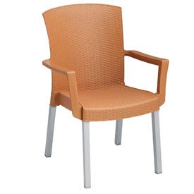 Grosfillex® Havana Classic Outdoor Armchair - Tobacco (Sold in Pk. Qty 4) - Pkg Qty 4