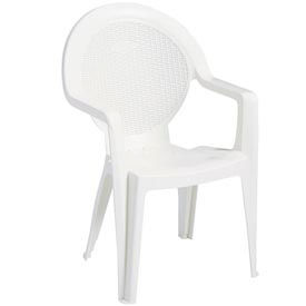 Grosfillex Trinidad Stacking Outdoor Armchair White (Sold in Pk. Count 24) Package Count... by