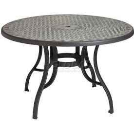 """Grosfillex® Cordoba 48"""" Round Outdoor Table - Charcoal"""