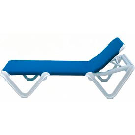 Grosfillex® Nautical Sling Chaise - Blue (Sold in Pk. Qty 2) - Pkg Qty 2