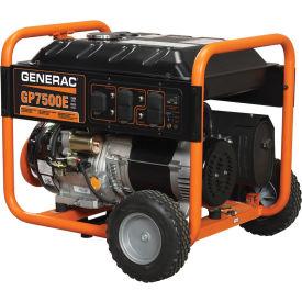 GENERAC® 5943, 7500 Watts, Portable Generator, Gasoline, Electric/Recoil Start, 120/240V