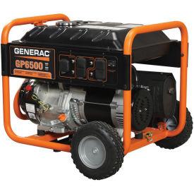 GENERAC® 5946, 6500 Watts, Portable Generator, Gasoline, Recoil Start, 120/240V