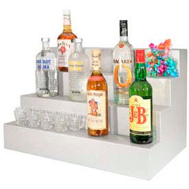 "Liquor Display, 42"", 3 Step, Gray Marble"