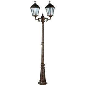 Gama Sonic GS-98D Royal Solar Lamp Post - Double Lamps - Weathered Bronze