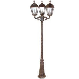 Gama Sonic GS-98T Royal Solar Lamp Post - Triple Lamps - Weathered Bronze
