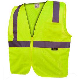 GSS Safety 1001 Standard Class 2 Mesh Zipper Safety Vest, Lime, 3XL