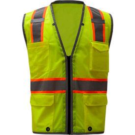 GSS Safety 1701, Class 2 Heavy Duty Safety Vest, Lime, XL