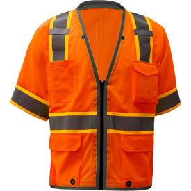 GSS Safety 2702, Class 3, Heavy Duty Safety Vest, Orange, 3XL