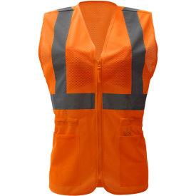 GSS Safety 7804, Class 2, Ladies Hi-Vis Safety Vest, Orange, 4XL/5XL