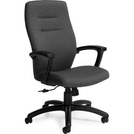 Global™ Synopsis High Back Chair, Grey Fabric Upholstery