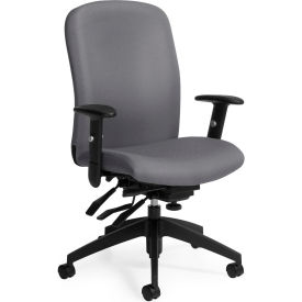 Global™ Truform High Back Multi-Tilter Chair, Slate Fabric Upholstery
