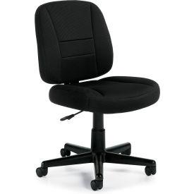 Offices To Go™ Air-Mesh Fabric Task Chair - Armless - Black