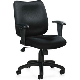 Offices To Go™ Managerial Tilter Chair with Arms - Fabric - Black