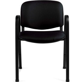 Offices To Go™ Stack Chair, Black Fabric Upholstery - Pkg Qty 2