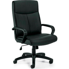 Offices To Go™ Luxhide Tilter Chair OTG11782B, Black