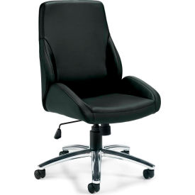 Offices To Go™ Specialty Luxhide Tilter Chair, Black
