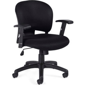 Offices To Go™ Management Chair, Black Fabric Upholstery