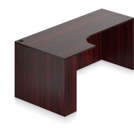"""Offices To Go™ - Left Hand Corner Credenza - 71""""W x 24/36""""D x 29-1/2""""H - Mahogany"""
