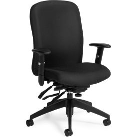 Global™ Truform High Back Chair, Black Fabric Upholstery