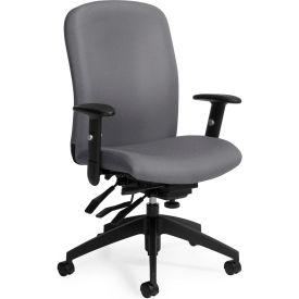 Global™ Truform High Back Chair, Slate Fabric Upholstery