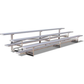 2 Row National Rep Aluminum Bleacher, 9' Wide, Single Footboard