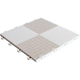 Block Tile B2US4130 Multi-Purpose Drain Tiles, Perforated Pattern, White