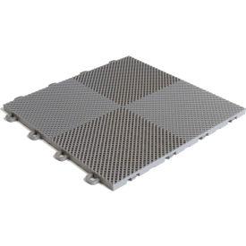 Block Tile B2US4630 Multi-Purpose Drain Tiles, Perforated Pattern, Gray