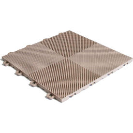 Block Tile B2US5130 Multi-Purpose Drain Tiles, Perforated Pattern, Beige