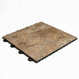 Block Tile B3US1827 Interlocking Basement Floor Tiles, Sienna Pattern, Sienna