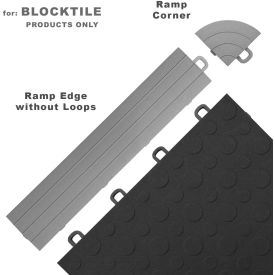 Block Tile R0US4612 Ramp Edges W/o Loops, PP Edges Pattern, Gray