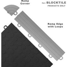 Block Tile R1US4612 Ramp Edges W/Loops, PP Edges Pattern, Gray