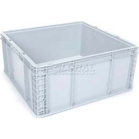 "SLC Stacking Container, 24""L x 22-1/2""W x 11""H, Silver Grey"