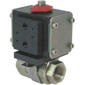 Gemini Valve® S/S Ball Valve W/500 Series Double-Acting Pneumatic Actuator, 1-1/4""