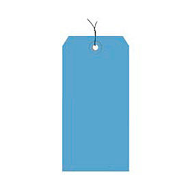 """#3 Dark Blue Wire Tag Pack 3-3/4"""" x 1-7/8"""" - 1000 Pack"""