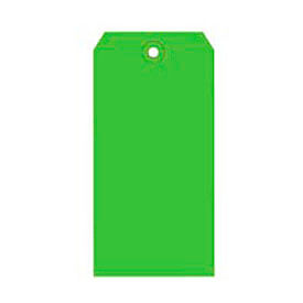 "#5 Light Green Shipping Tag Pack 4-3/4"" x 2-3/8"" - 1000 Pack"