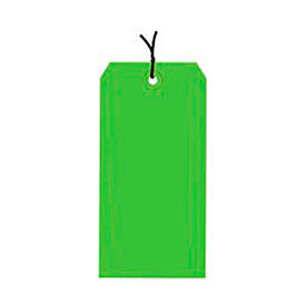 "#2 Light Green Strung Tag Pack 3-1/4"" x 1-5/8"" - 1000 Pack"