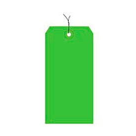 """#3 Light Green Wired Tag Pack 3-3/4"""" x 1-7/8"""" - 1000 Pack"""