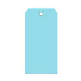 "#4 Light Blue Shipping Tag Pack 4-1/4"" x 2-1/8"" - 1000 Pack"