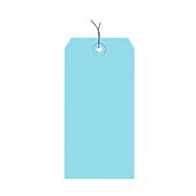 "#4 Light Blue Wired Tag Pack 4-1/4"" x 2-1/8"" - 1000 Pack"