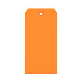 "#6 Orange Shipping Tag Pack 5-1/4"" x 2-5/8"" - 1000 Pack"