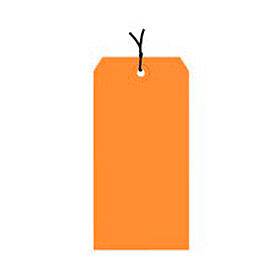 "#1 Orange Strung Tag Pack 2-3/4"" x 1-3/8"" - 1000 Pack"