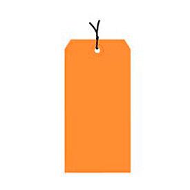 "#7 Orange Strung Tag Pack 5-3/4"" x 2-7/8"" - 1000 Pack"