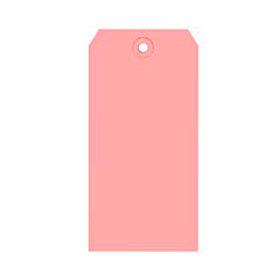 "#7 Pink Shipping Tag Pack 5-3/4"" x 2-7/8"" - 1000 Pack"