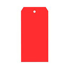 "#2 Red Shipping Tag Pack 3-1/4"" x 1-5/8"" - 1000 Pack"
