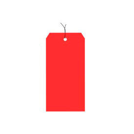 "#8 Red Wired Tag Pack 6-1/4"" x 3-1/8"" - 1000 Pack"