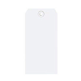 "#6 White Shipping Tag Pack 5-1/4"" x 2-5/8"" - 1000 Pack"