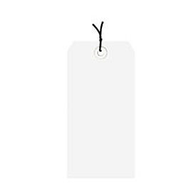 "#4 White Strung Tag Pack 4-1/4"" x 2-1/8"" - 1000 Pack"