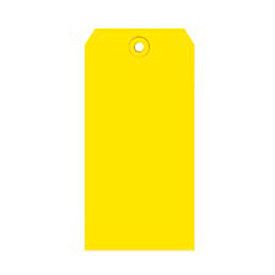 """#4 Yellow Shipping Tag Pack 4-1/4"""" x 2-1/8"""" - 1000 Pack"""