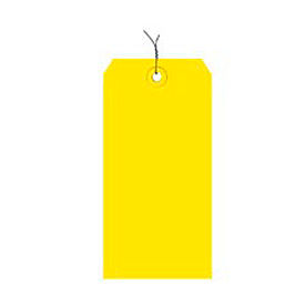 "#6 Yellow Wired Tag Pack 5-1/4"" x 2-5/8"" - 1000 Pack"