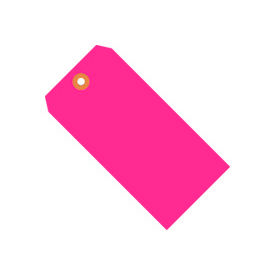 """#1 Pink Fluorescent Tag Pack 2-3/4"""" x 1-3/8"""" - 1000 Pack"""